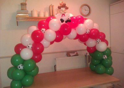 Ballonvouwen tafeldecoratie